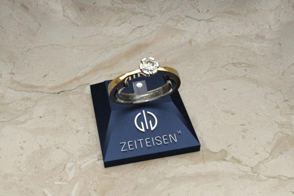 Solitär-Ring 6er Krone aus Gelbgold